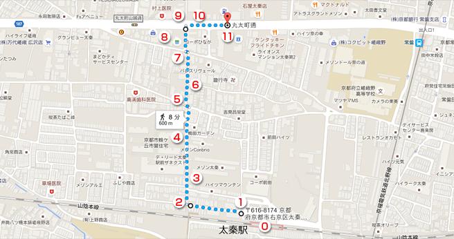 太秦駅からのアクセス方法